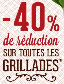 -40% sur toutes les grillades