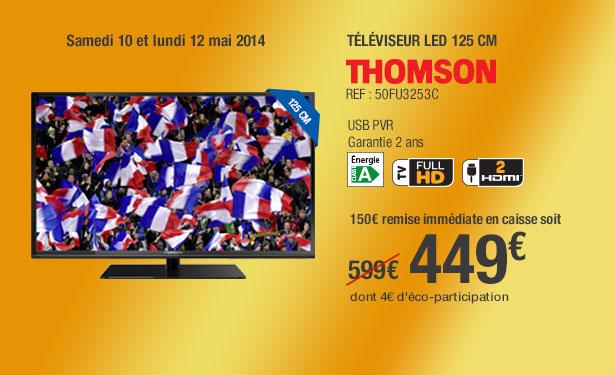 "Télévision 50"" Thomson 50FU3253C - 100Hz, HDTV 1080p"