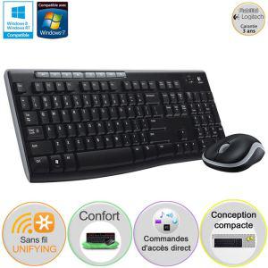 Pack clavier souris (sans fil) Logitech MK270