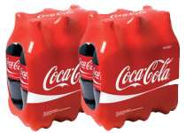 2 packs de 6 bouteilles de 50 cl de Coca Cola Regular (60% sur carte + bon de réduction)