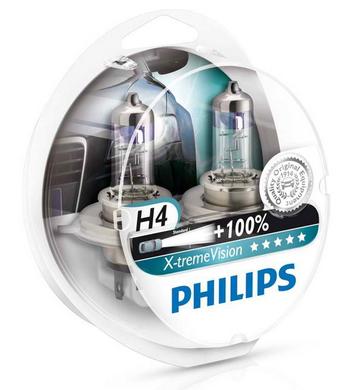 Pack de 2 Ampoules de phare H4 Philips Xtreme Vision