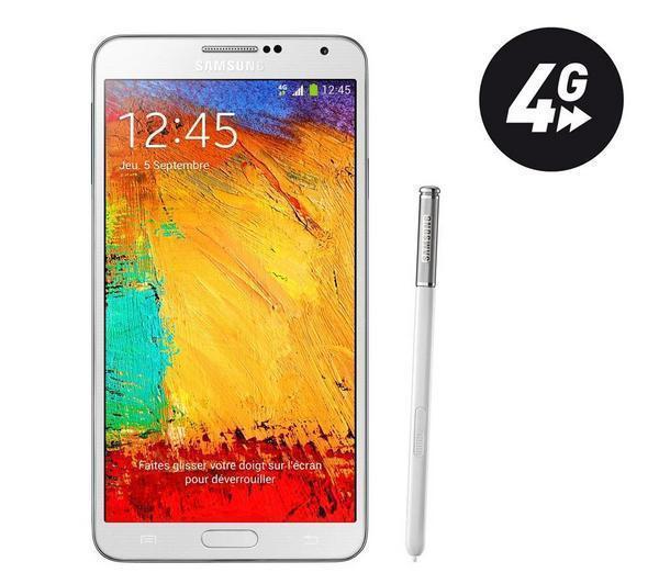 Smartphone Galaxy Note 3 - 32 Go - blanc (12,94€ de port)