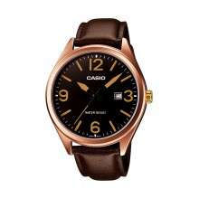 Montre Casio Vintage MTP-1342L-1B2EF avec bracelet en cuir