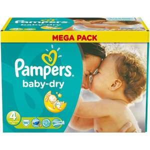 Couches Pampers Baby-dry, Active Fit, Easy-Up, différentes tailles (50% sur la carte Carrefour)