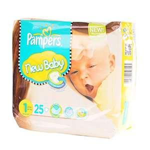 Couches Pampers New Baby Newborn x25 (0,15€/couche)