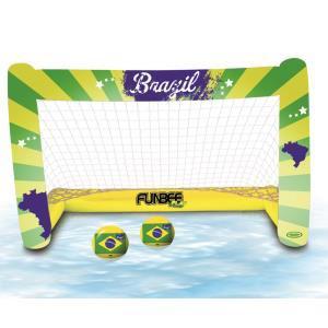 Cage de foot gonflable Funbee (compatible piscine, jardin) + 2 ballons gonflables