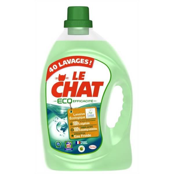 Lessive Le Chat Eco-Efficacité 3L  (avec 50% sur la carte fidélité)
