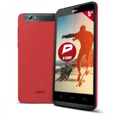 Smartphone Yezz Andy A5QP - 8 coeurs - DualSim + 2 coques +1 étui flipcover