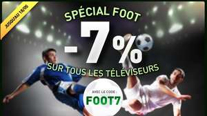 7% de réduction sur toutes les TV