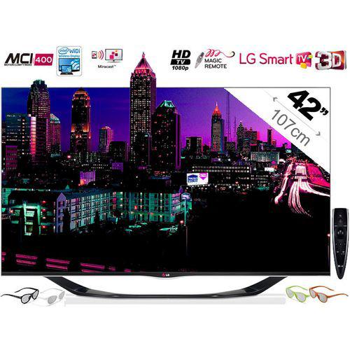"""Téléviseur 42"""" LG 42LA690S  Full HD 3D Smart TV 400Hz"""