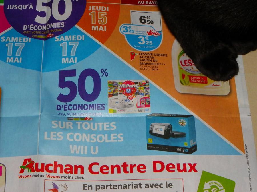 -50% sur les Consoles Wii U (remboursés sur carte Waouh)