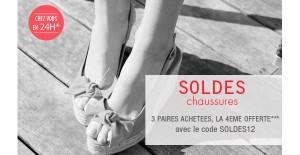 Soldes Chaussures : 3 paires achetées, la 4eme paire offerte