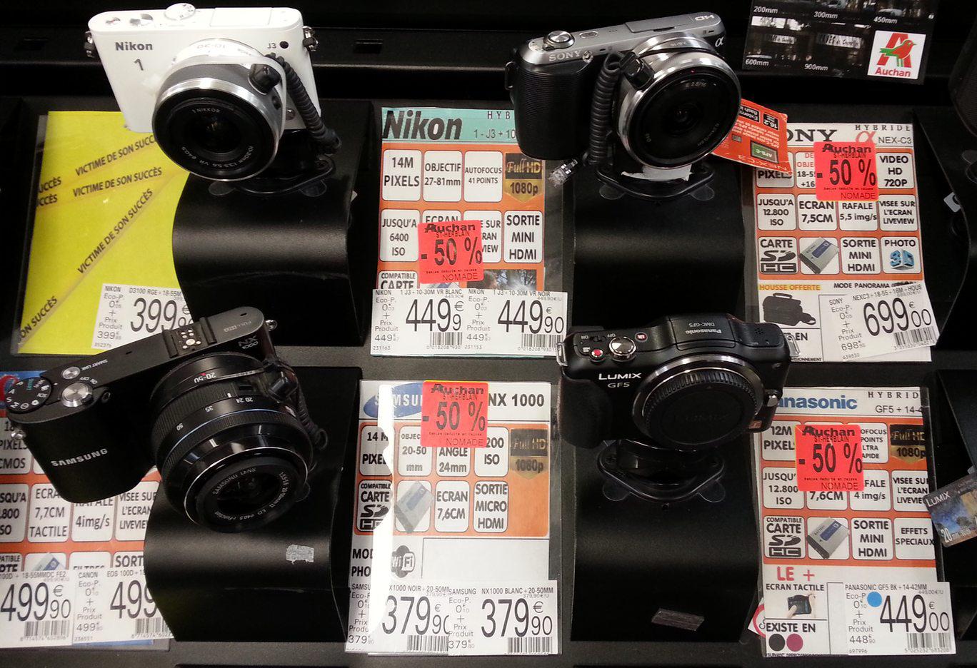 Sélection d'appareils photos compacts à -50% - Ex: Samsung NX-1000 + 20-50mm
