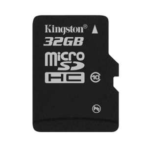 Carte Mémoire Kingston microSDHC 32GO Classe 10 + Adaptateur SD