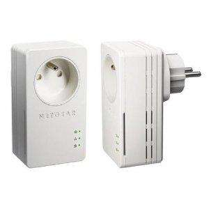 2 Adaptateurs CPL Netgear XAVB1401 Ethernet Powerline 200 Mbits/s