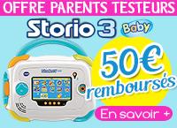 Console Vtech Storio 3 baby en béta test (avec ODR 50€)