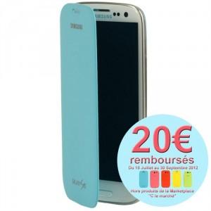 Samsung Galaxy S3 : étui officiel Samsung de couleur avec ODR 20€
