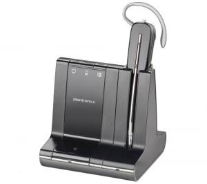 Oreillette Bluetooth professionnelle (portée 120m) Plantronics Savi W740 pour PC et téléphone