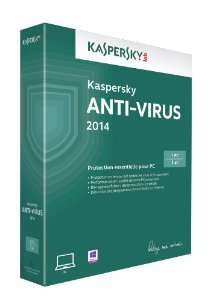 Kaspersky Antivirus 2014 (1 poste, 1 an)