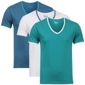 3 T-Shirts Col V 55 Soul (Tailles M ou XXL)
