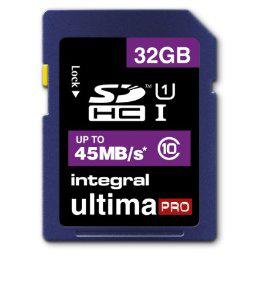Carte mémoire Integral Carte SDHC Class 10 32 Go