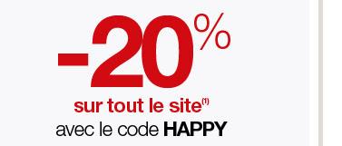 Happy Hour : -20% sur tout le site