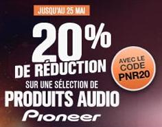 20% de remise sur une sélection de produits Pioneer