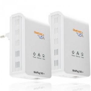Kit CPL MiniPlug 500 duo - Flux vidéo SD HD et 3D - OMENEX