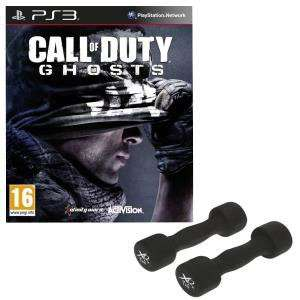 Pack Call Of Duty Ghosts sur PS3 ou XBOX 360 + Set d'Haltères 2x2kg