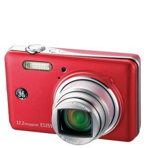"""Appareil photo numérique GE E1255W - Rouge (12.2 MP, Zoom optique 5x, Ecran LCD 3"""")"""