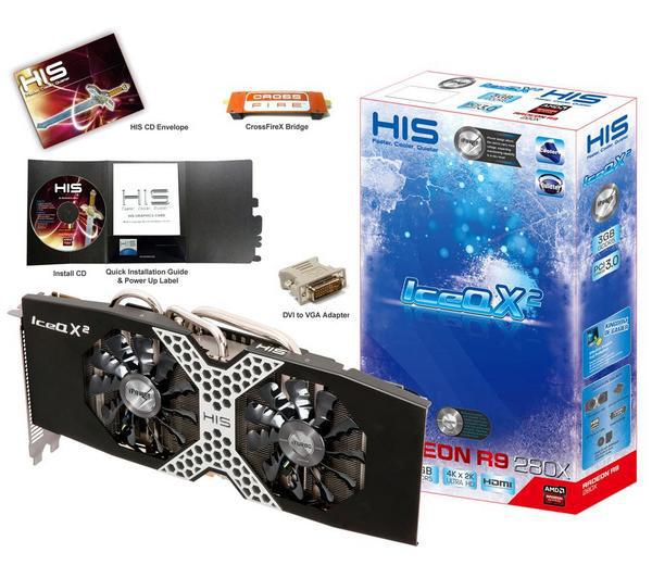 Carte Graphique HIS Radeon R9 280X iPower IceQ X² Boost - 3 Go GDDR5  + 3 Jeux Offerts