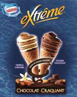 4 Cônes Extreme Chocolat craquant ou  4 Cônes à l'américaine