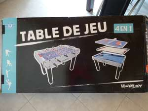 Table de jeux 4 en 1 U-Play