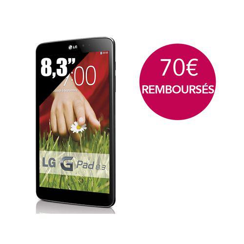Tablette LG GPad 8.3 (70€ ODR)