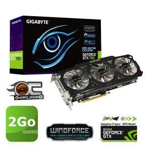 Carte graphique Gigabyte GTX760 2Go GDDR5 OC Rev 2.0 + Watch Dogs offert