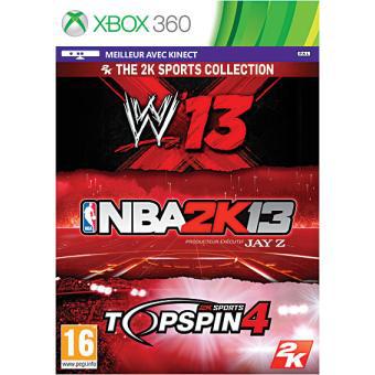 [Adhérents] Triple Pack Sport : WWE 13, NBA 2K13 et Top Spin 4 sur Xbox 360
