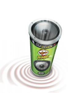 Un haut-parleur Pringles gratuit pour l'achat de 3 cans de Pringles