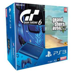 Pack PS3 500 Go + Manette Dualshock + GTA V + Gran Turismo 6 + Call Of Duty Ghost