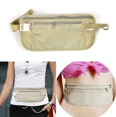 pochette de sécurité tour de taille invisible pour l'argent, les papiers, etc à 1.16€ ou