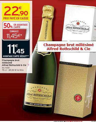 Champagne bruit millésimé Alfred Rothschild (50% sur carte de fidélité)