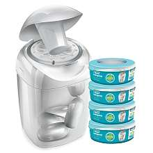 Tommee Tippee - Pack 4 recharges + 1 poubelle à couches offerte