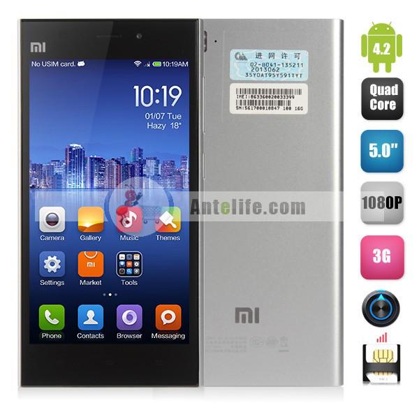 "Smartphone Xiaomi MI3 -Quadcore, Ecran 5"", 2Go RAM"
