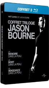 Coffret Blu-ray Trilogie Jason Bourne Edition Steelbook