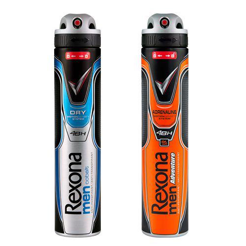 A partir du 27/05: deux déodorants Rexona men (cobalt, invisible ou adrénaline)