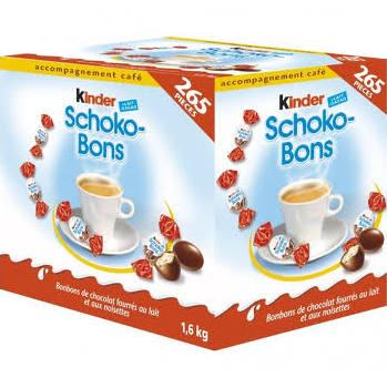 Pack Kinder Schoko-Bons de 265 pièces (6.5€ de port)