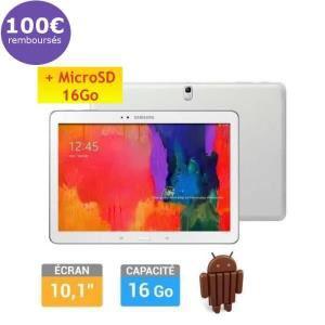 Samsung Galaxy Tab Pro 10'' + Carte SD 16Go (Avec ODR de 100€)
