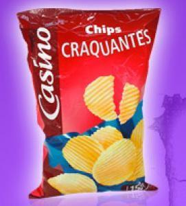 Un paquet de chips Casino sans huile de palme gratuit