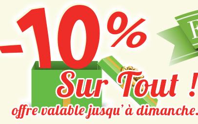 -10% sur tout le site (jardinage, mobilier de jardin, outillage...)