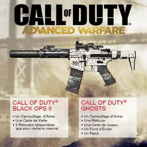 Pack de personalisation Advanced Warfare pour Call of Duty Black Ops 2 ou Ghosts (PlayStation et XBOX)