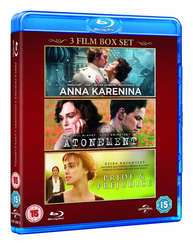 Coffret 3 Blu-rays Keira Knightley :  Anna Karenine + Orgueil et Préjugés + Reviens moi